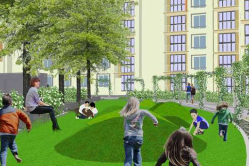 Children Play area with mounds